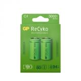 GP Recyko 3000mAh C/R14 2-pakning