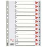 Register Esselte PP A4 1-12 grå