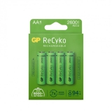 GP Recyko 2600mAh AA/HR6 4-pakning