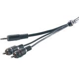 Vivanco Audiokabel, 1x 3.5 mm Hann - 2xRCA Hann, 2.5 m