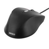 Deltaco optisk mus 3 knapper med skroll, USB