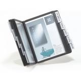 Bordstativ Vario A5 med 10 lommer svart