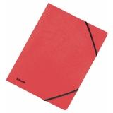 Strikkmappe u/klaff Kartong A4 Rød