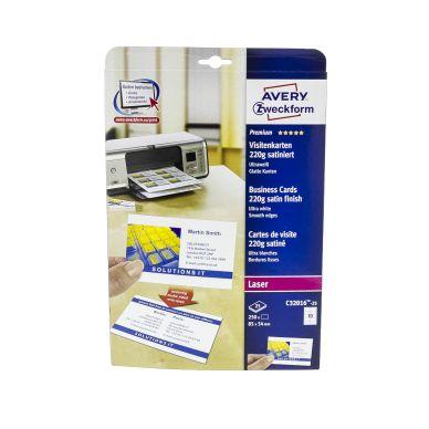 Bilde av Avery Visittkort Hvite, 25 Ark, 10 Visittkort/ark, 85x54mm, 220g C32016-25 Tilsvarer: N/a