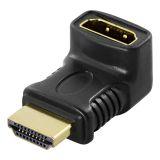 DELTACO HDMI-adapter, 19-pin han til hun, vinklet