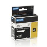 Tape Rhino perm polyester 12mm sv. på hvit