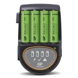 GP Batteriladdare H500 inkl 4 stk. 2600 mAh