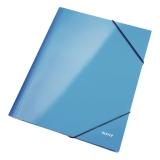 Gummistrikkmappe Leitz Wow A4 blå