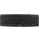 Deltaco tastatur, nordisk layout, USB, svart