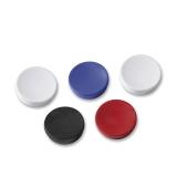 Magnetknapper Actual 30 mm sort farger, 5 stk.